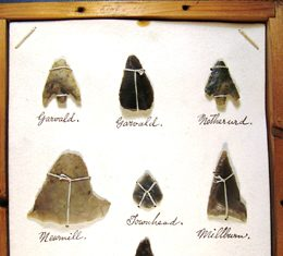 One box from Mr Dunlop's collection – with a Late Neolithic oblique arrow, 2nd row, 3rd from the left.