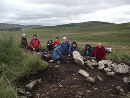 Volunteers starting off the next site to be excavated.