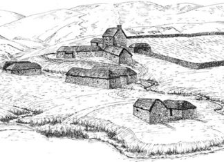 Illustration of Glenochar Battle House and Fermtoun