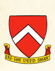 The original Fleming arms and motto.