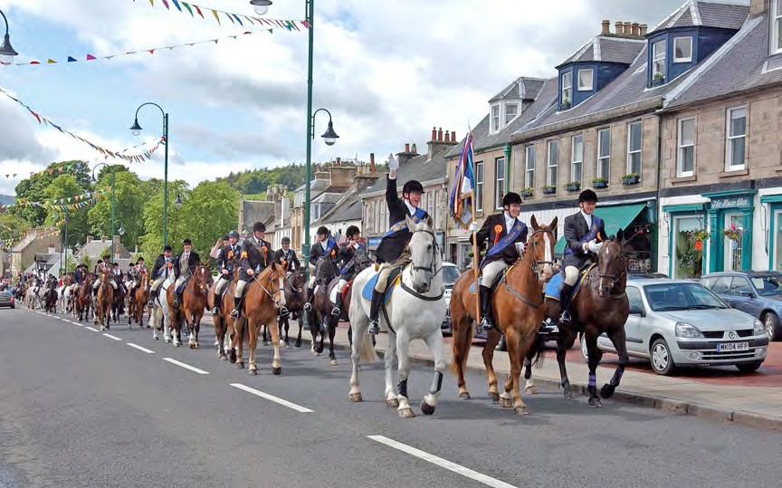 Biggar Rideout for Gala Day Celebrations