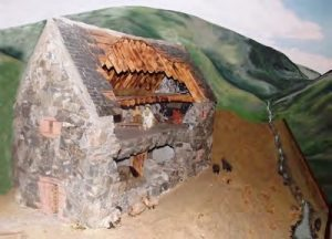 Model now in Biggar Museum of Windgate House, near Coulter.