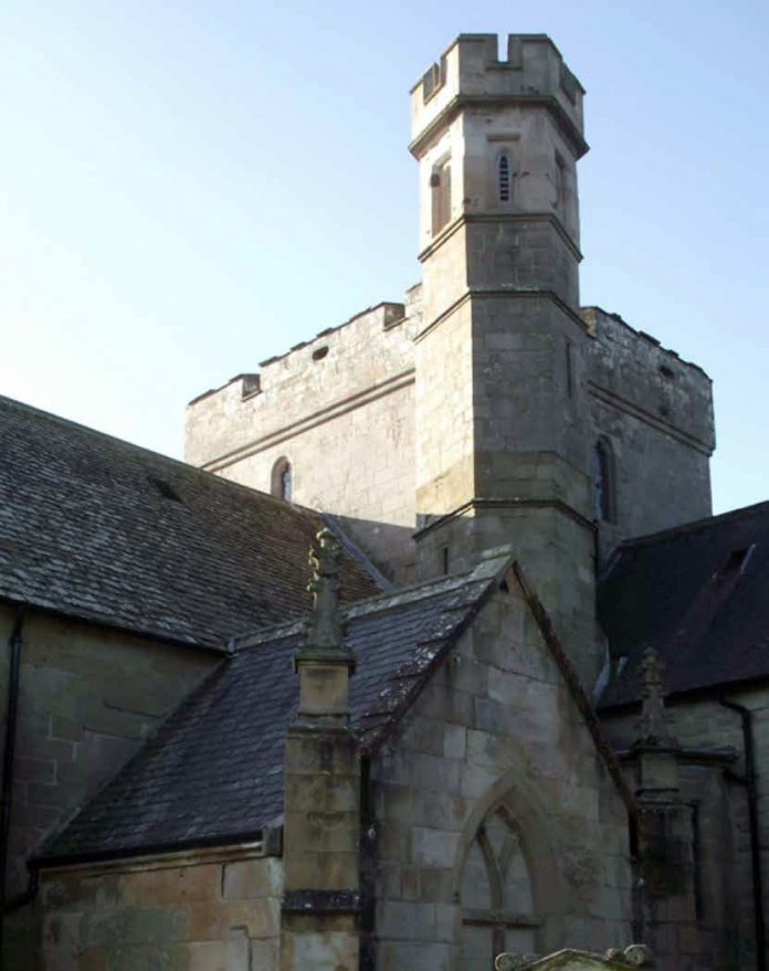Biggar Kirk bell tower