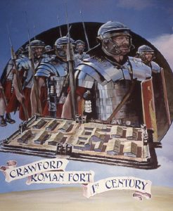 David Fisher's painting of Crawford Roman Fort