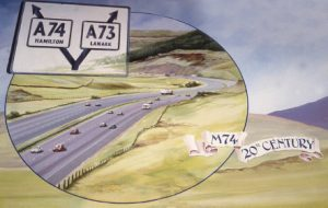David Fisher's painting of the M74