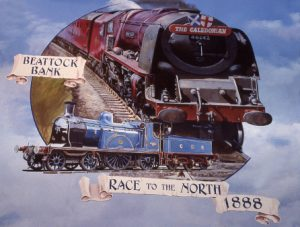 David Fisher's painting depicting the Caledonian Railway